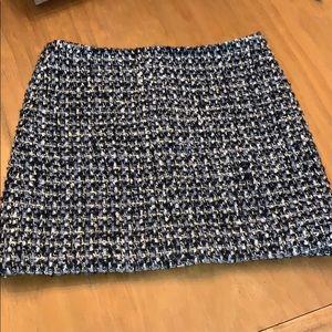 Gray/Gold Wool Skirt by J. Crew SZ 0